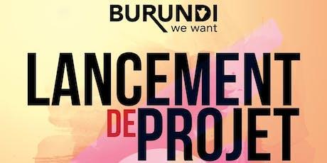 Lancement d'un nouveau projet pour les jeunes d'origine Burundaise résidant à Ottawa tickets