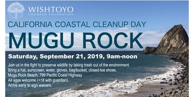 Coastal Cleanup Day - Mugu Rock Beach - Wishtoyo 2019