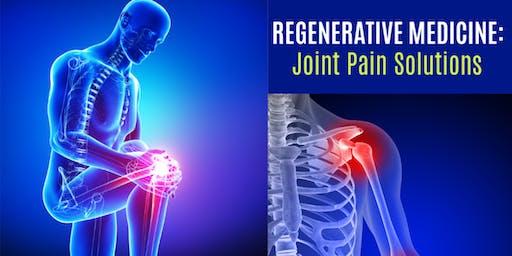 Regenerative Medicine Seminar: Joint Pain Solutions