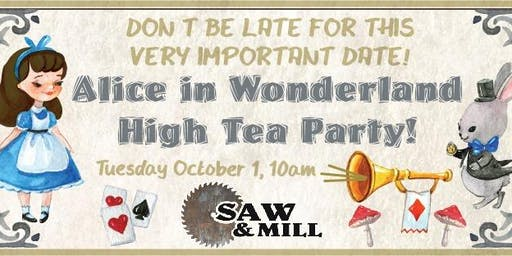 Alice in Wonderland High Tea Party