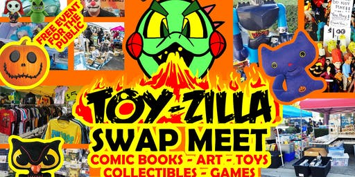 FREE HALLOWEEN TOY-ZILLA SWAP MEET Collectibles - Toys - Games - Comics