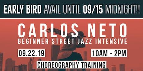 Beginner Street Jazz Intensive with Carlos Neto (NYC)  tickets
