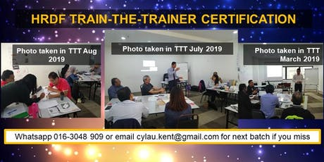 HRDF Train-the-Trainer Certification tickets
