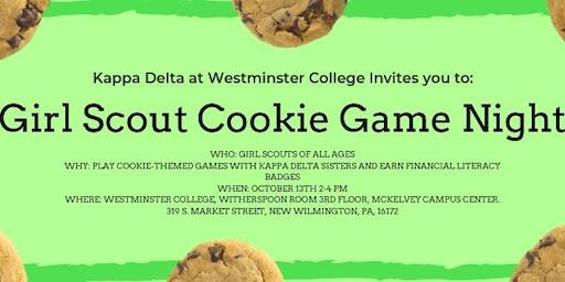 Girl Scout Cookie Game Night