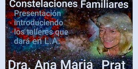 Constelaciones Familiares Dra. Ana Maria Prat en Northridge CA entradas