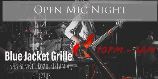 Open Mic Night at Blue Jacket Grille