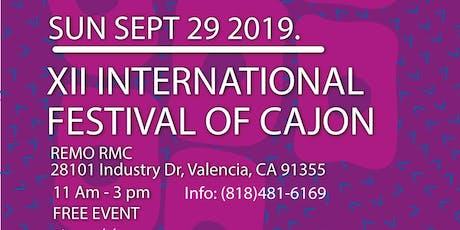 XII International Festival of Cajon tickets