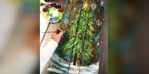 Christmas Tree! Glen Burnie, Sidelines Sports Bar with Artist Katie Detrich!