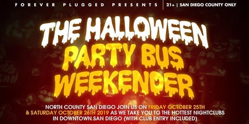 North County SD Halloween Party bus(Saturday)