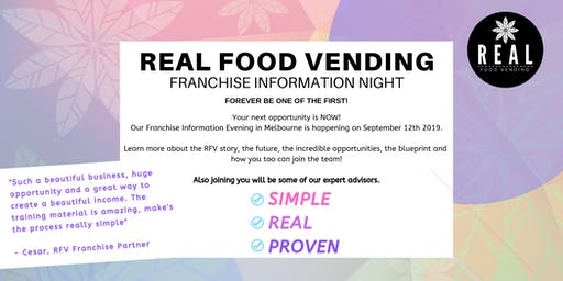 Real Food Vending Franchise Information Evening