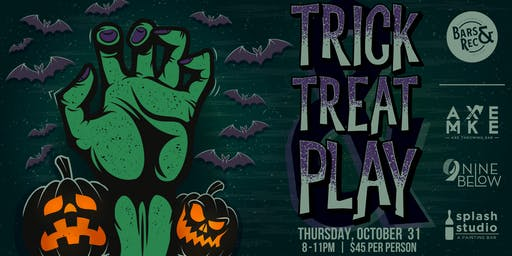 Halloween Trick, Treat & Play Crawl w/AXE MKE, Nine Below & Splash Studio