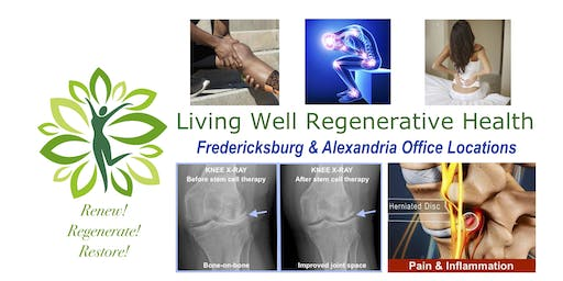 Free Stem Cell Therapy Presentation and Lunch - Saturday 9/21, 12-1pm