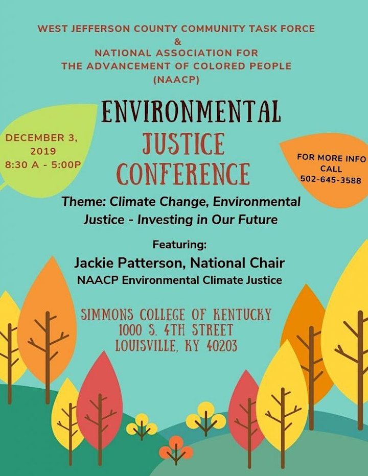 FREE - 2019 WJCCTF/NAACP ENVIRONMENTAL JUSTICE CONFERENCE image