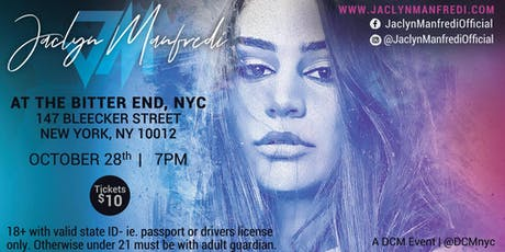 Jaclyn Manfredi at The Bitter End, NYC tickets