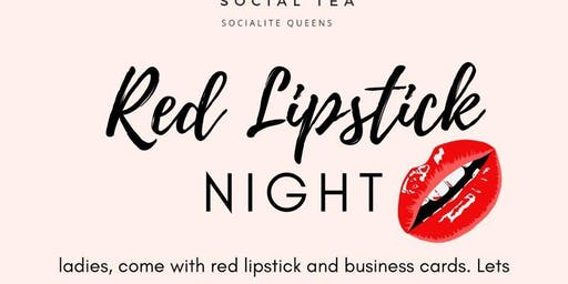 Red Lipstick Night Social Tea Atlanta
