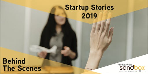 Startup Stories 2019 (Behind the Scenes)
