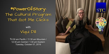 #PowerOfStory: The Cultural Program That Got Me Clicks webinar with Viqui Dill tickets
