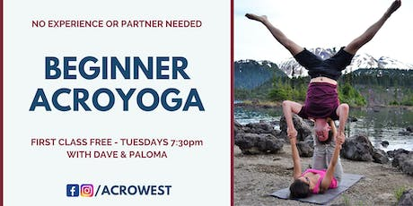 Acroyoga Beginner Classes tickets
