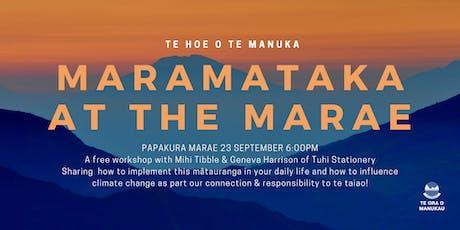 Maramataka at the Marae tickets