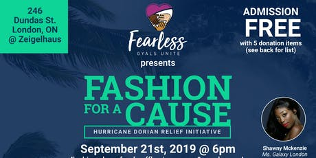 Fashion For A Cause: Hurricane Dorian Relief Initi tickets
