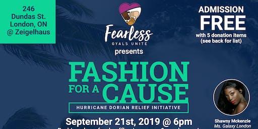 Fashion For A Cause: Hurricane Dorian Relief Initi