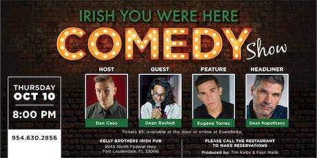 Comedy Night at Kelly Brothers! October 10th tickets