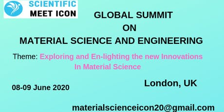 GLOBAL SUMMIT ON MATERIAL SCIENCE AND ENGINEERING tickets