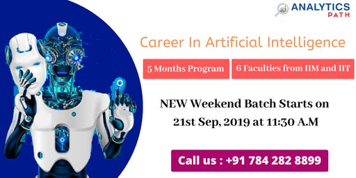 Analytics Path New Weekend Batch session on AI training scheduled on 21ST S
