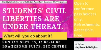 Student Civil Liberties are under threat. What will you do about it?