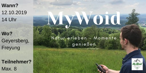 Geocaching Tour - Mit der MyWoid raus aus dem Alltagstrott