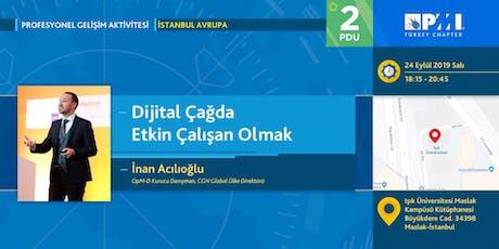 PMI TR Profesyonel Gelişim 2019 Eylül Ayı Aktivitesi-İstanbul Avrupa tickets