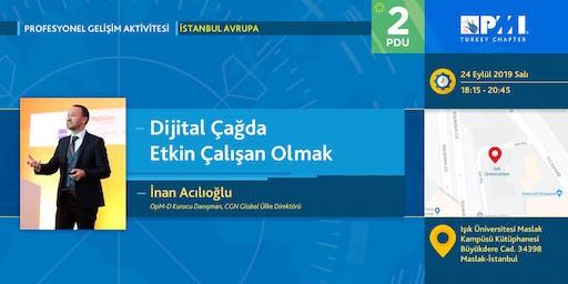 PMI TR Profesyonel Gelişim 2019 Eylül Ayı Aktivitesi-İstanbul Avrupa