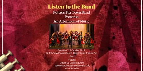 Listen to the Band - Potters Bar Town Band tickets