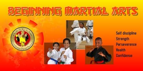Beginning Martial Arts Classes tickets