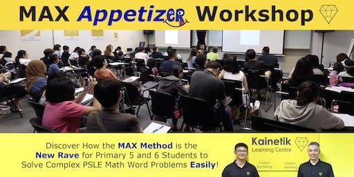 MAX Appetizer Workshop (MAW) 2019
