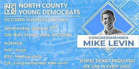 North County Young Democrats Meeting w/ Rep. Mike Levin tickets