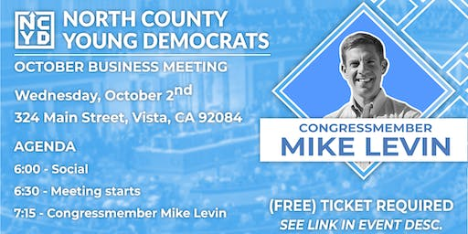North County Young Democrats Meeting w/ Rep. Mike Levin