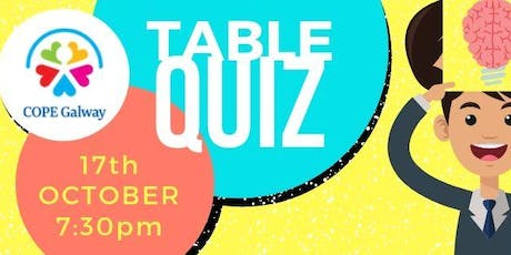 Table Quiz tickets
