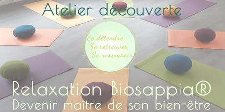 Découvrir la Relaxation Biosappia® Adultes billets