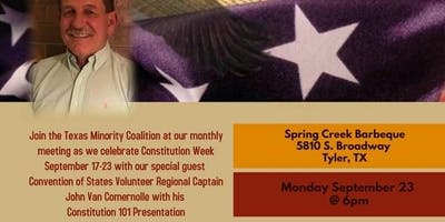 Constitution 101 Sponsored by Texas Minority Coalition
