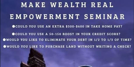 Make Wealth Real (MWR) Clifton Park NY Meet Up tickets