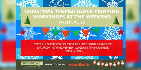 Christmas Themed Block Printing Workshops tickets