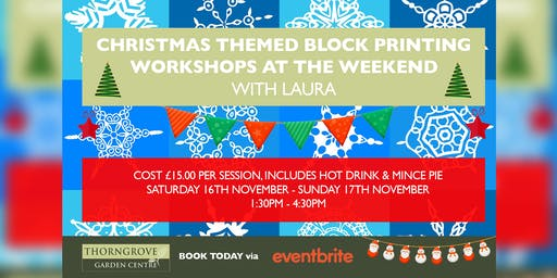 Christmas Themed Block Printing Workshops