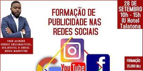 Formação de Publicidade nas Redes Sociais bilhetes