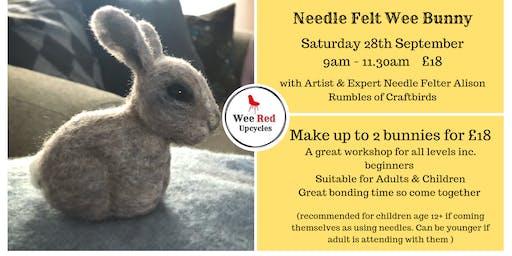 Needle Felt Wee Bunnies- with Needle Felt Artist  Alison Rumbles
