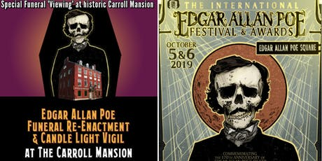 Edgar Allan Poe Funeral Re-enactment and Candle-light Vigil at Carroll Mansion tickets