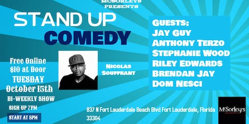 Stand Up Comedy Night with Nicolas Souffrant at McSorleys