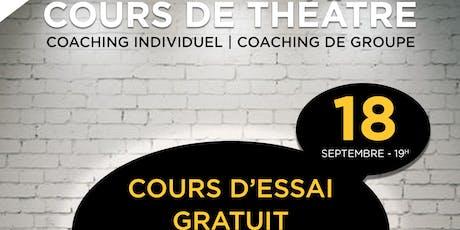 Cours de théâtre gratuit tickets