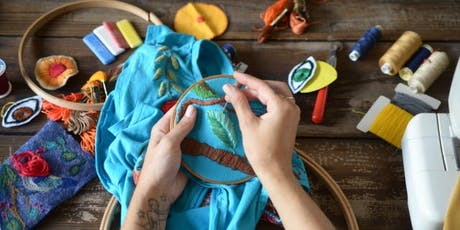 Upcycle your clothing with embroidery with Moody Bright Designs (Part II) tickets