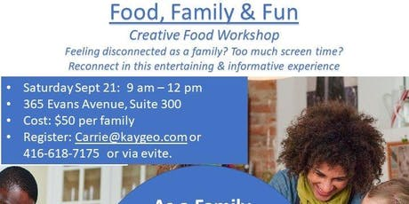 Food Family Fun - cooking workshop for families tickets
